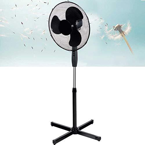 Bakaji Ventilatore a Colonna Piantana Potenza 42W Diametro Pale 40cm 3 Velocità Selezionabili Altezza regolabile fino a 128 cm Base a Croce e Oscillazione Orizzontale (Nero)