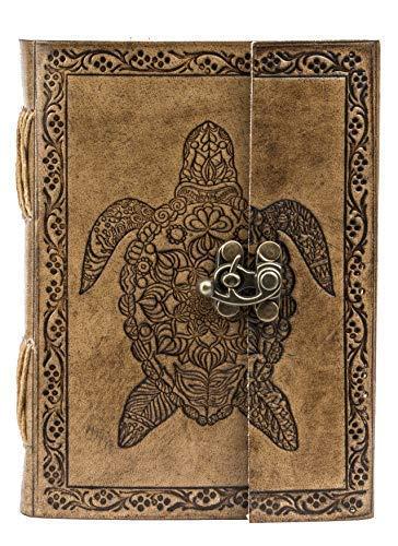 GNG – Diario in pelle fatto a mano vintage libro vuoto rilegato con grande terzo occhio (tartaruga)
