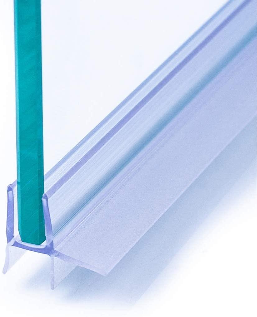 IEGAR Guarnizione 100Cm Sottoporta Trasparente 2a Generazione Profilo Doppia Aletta Ricambio Box Doccia In Vetro Con Porta Battente o Scorrevole Universale Per Vetri 4mm/5mm/6mm Con Gocciolatoio
