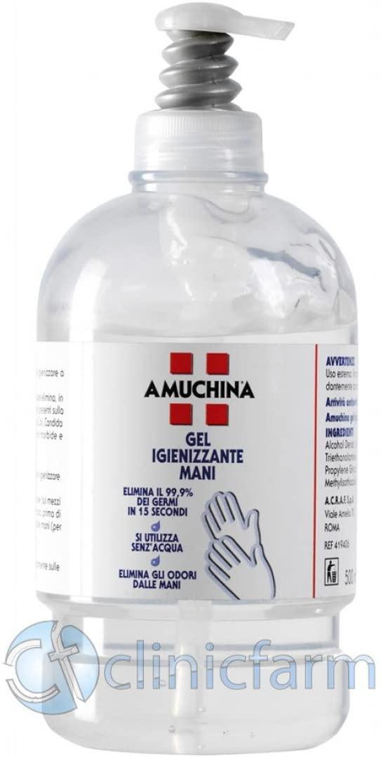 AMUCHINA gel igienizzante mani 500 ml disinfettante