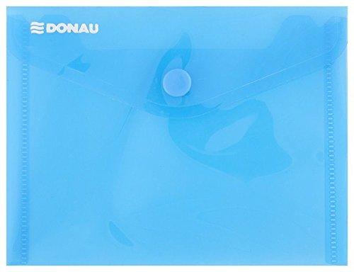 DANUBIO 8549001pl-10portadocumenti/–Cartellina con Bottone a pressione, PP, A6, 180μm, colore: blu