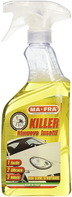 Ma-Fra, Killer, Spray per Auto Elimina Insetti, Veloce, Facile e Veloce, Dissolve Ogni Traccia di Insetti, Resine e Residui Biologici, nel Formato da 500ml