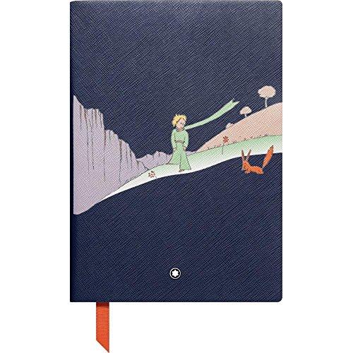 Montblanc 117869 – Blocco Note #146 Cancelleria di lusso – Taccuino in pelle con fogli a righe – Edizione speciale Le Petit Prince – Quaderno appunti A5, 150 x 210 mm – Copertina blu