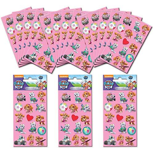 Paper Projects 01.70.24.056 - Adesivi per feste, motivo: Paw Patrol, 18 fogli, colore: Rosa