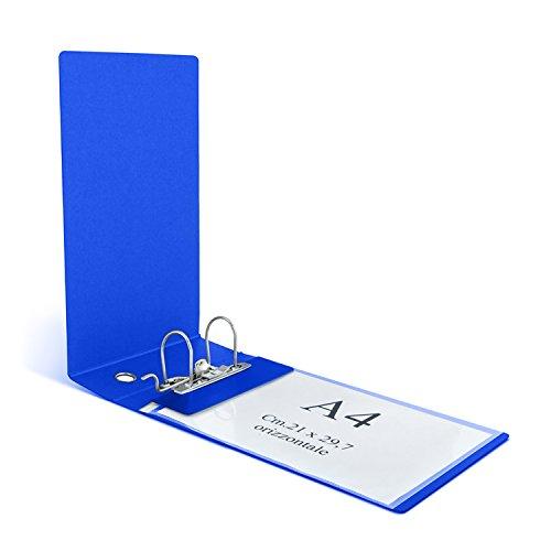 Clam Raccoglitore Per Buste Orizzontali E Fogli Uni A4 Dorso 8 Cm, Meccanismo A Leva. Colore : BLU