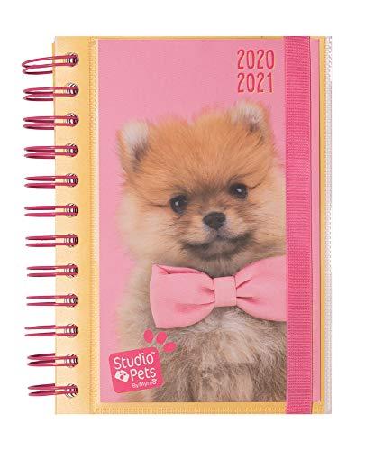Diario Scuola Giornaliero 2020/2021 Studio Pets Dog, 11 mesi, 11,4x16 cm