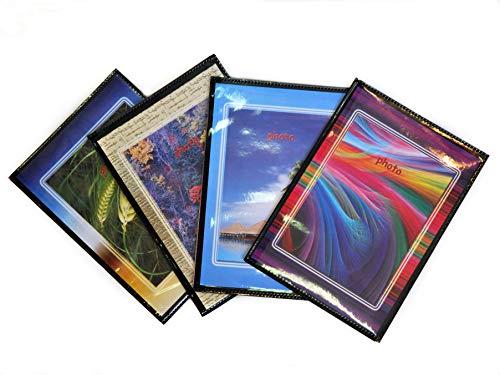 10 Foto Album Personalizzabili Fronte/Retro Portafoto a Tasche 13X19 - 40 Foto Copertina Morbida - Conf. 10 Pz.