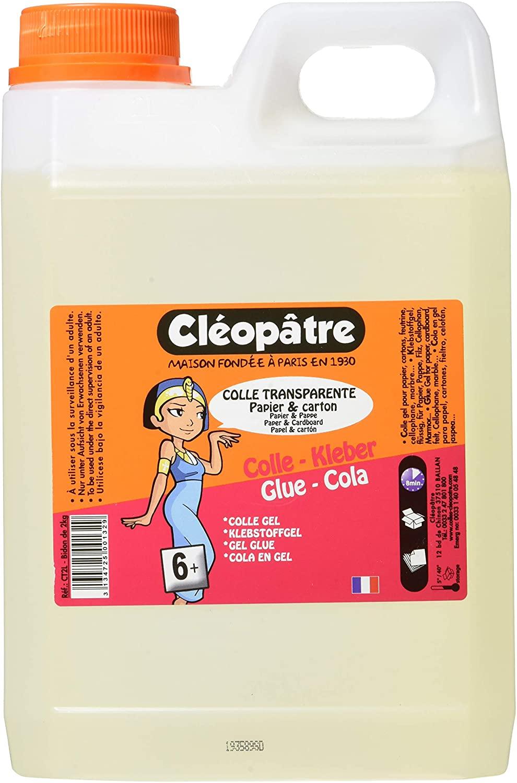 Cleopatre CT2L – Colla trasparente speciale per le scuole, 2 kg