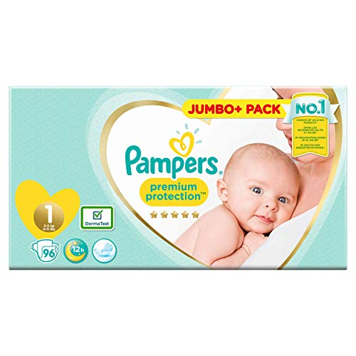 Pampers 81686981 - Pannolino Premium Protection, colore: Bianco