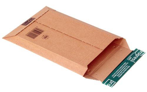 progressPACK - Busta per spedizioni postali Premium PP W01.02, in cartone ondulato, formato DIN A5, 187 x 272 max. 50 mm, confezione da 25, colore: Marrone