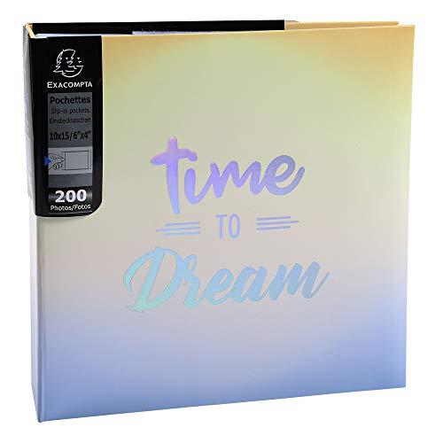 Exacompta 62222E Album foto con buste 200 foto 10x15cm CANDY BLUE - Formato 22,5x22 cm