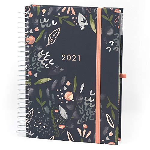 (in tedesco) 'Lebensplaner' Boxclever Press agenda 2020 2021. Diario scuola 2020 2021 va da Ago '20 a Dic '21. Agenda settimanale A5 piena di funzioni con elenchi perforati; sezioni planning e altro.