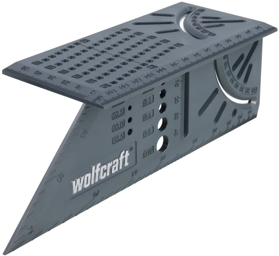Wolfcraft 5208000 5208000-Squadra Tridimensionale, 212x62x74mm, 0 W, 0 V, 212 x 62 x 74 mm