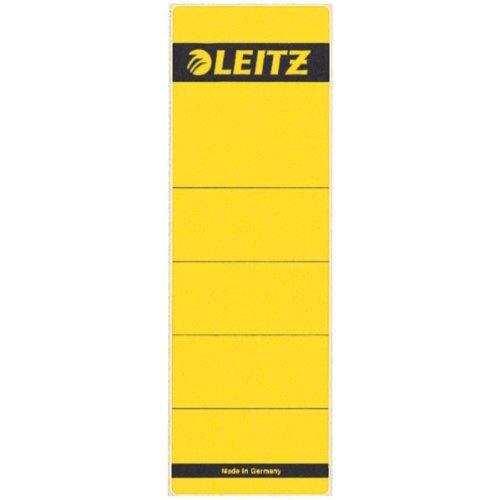 LEITZ Etichetta autoadesiva in carta per registratori 1080-1073 dorso 8 cm - Giallo - 16420015