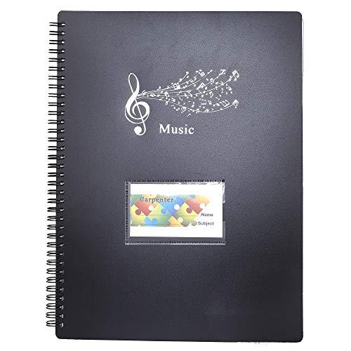 Musica Cartella Music Score Carta Foglio Nota Documento Fascicolo dell'organizzatore del Supporto Delle Cartelle con 40 Tasche