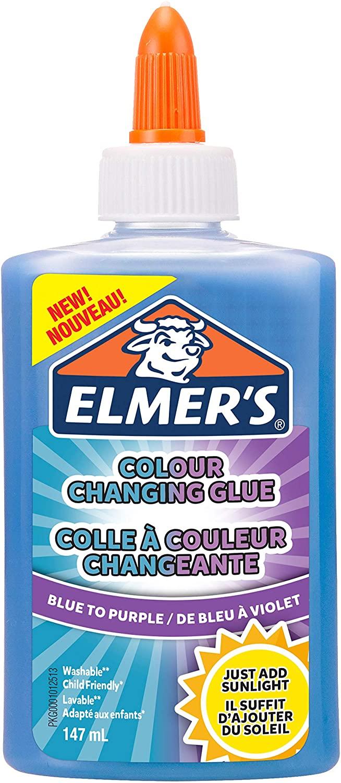 Elmer'S Colla Vinilica Cangiante, Ottima Per Realizzare Slime, Lavabile, Da Blu A Viola, 147 ml, 1 Pezzo