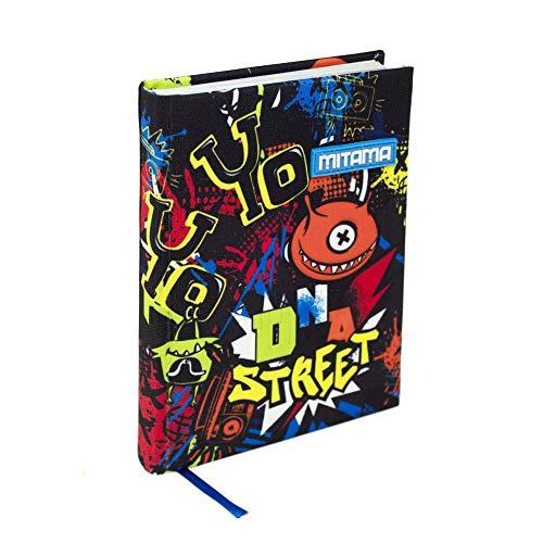 Mitama DIARIO Junior Street Scuola ELEMENTARE 10 Mesi Formato Plus Stickers in Omaggio