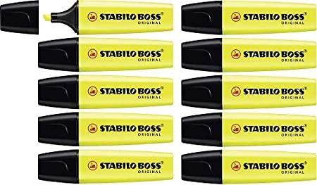 Evidenziatore - STABILO BOSS ORIGINAL - Confezione da 10 - Giallo