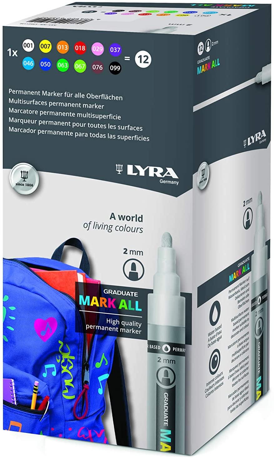 Lyra Graduate Mark All 2 mm Ast 12 col.ass
