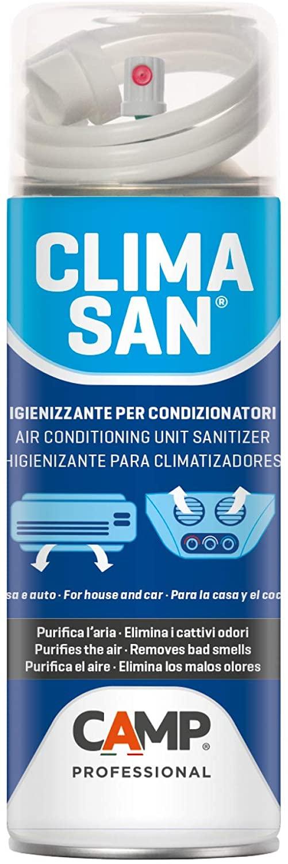 Camp CLIMASAN IGIENIZZANTE, Igienizzante climatizzatori per casa e auto, Neutralizza i cattivi odori