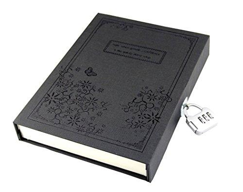 Diario segreto pagine vuote diario notebook, note book con serratura a combinazione password regalo
