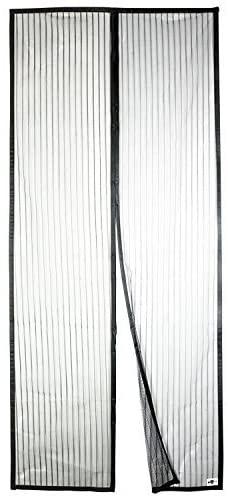 Apalus Zanzariera Magnetica per Porte 120 x 240 CM - Rete Super Fine, Tenda Totalmente Magnetica, si Chiude da Sola, Impedendo agli Insetti di entrare - Non Accorciabile (Nero)