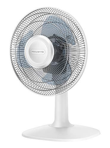 Rowenta VU2310 Essential +, Ventilatore da Tavolo, Silenzioso 46 dBA, 2 velocità Regolabili, Design Compatto, Bianco, 295x305x455 mm