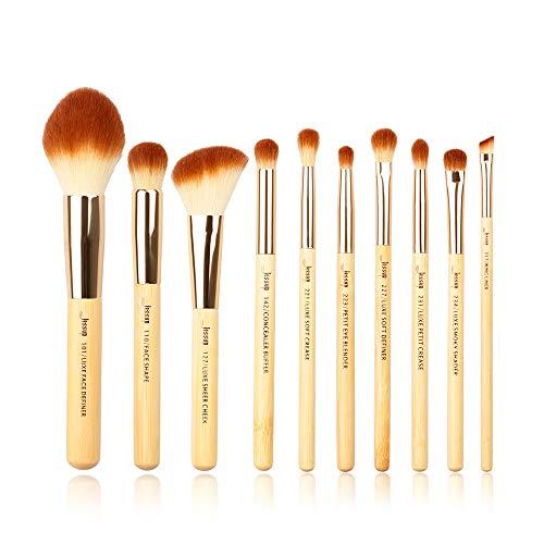 Jessup T143 - Set di pennelli da trucco in bambù, per definire il viso, sfumare gli occhi, eyeliner, correttore