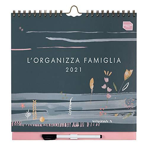 Boxclever Press L'Organizza Famiglia Calendario 2020 2021 da muro. Calendario famiglia accademico, planner settimanale con 6 colonne. Calendario da muro inizia da metà Ago '20 a Dic '21
