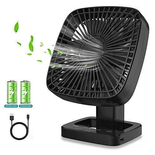 Ventilatore USB, Ventilatore da Tavolo Ventilatore Portatile Rotazione a 90 ° per Ventilatore Regolabile a 3 velocità per Casa, Ufficio