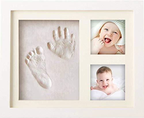 BraceTek Cornice Bambini Impronte Argilla, Kit Neonato Cornice per dei Piedini e delle Manine dei Bebé-Un ricordo di vita e regali ideali per i bimbo