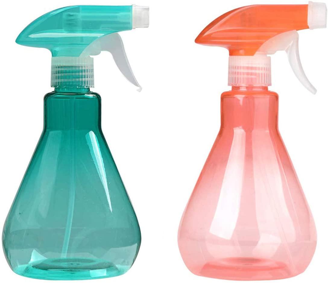 Cymax 2 Pezzi 500ML Spruzzino Nebulizzatore per Piante e Fiori Trasparente in plastica, Arancione + Verde