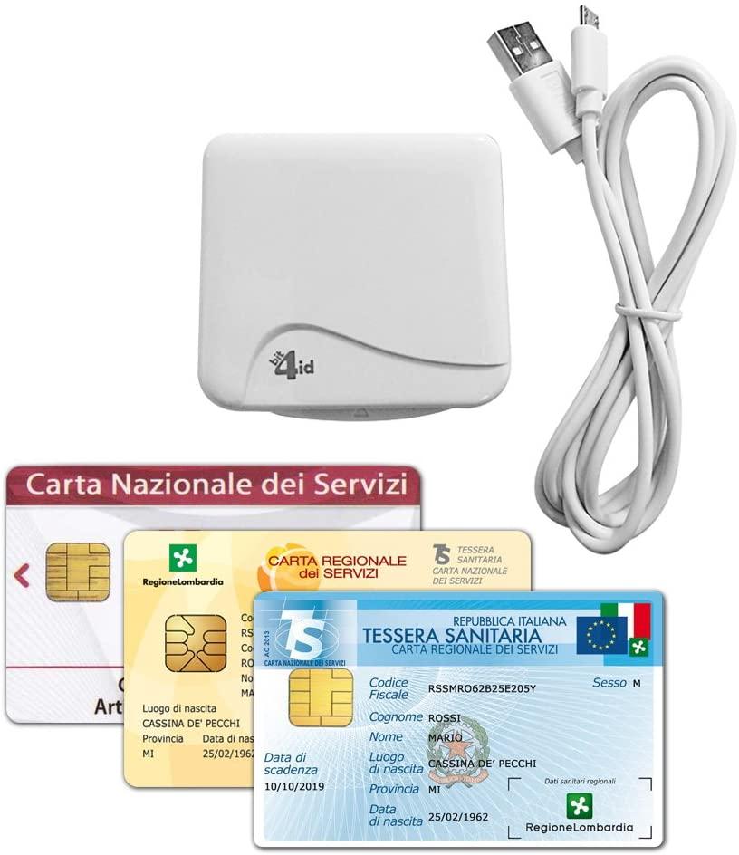 Bit4id Lettore di Smart Card miniLector Evo USB 2.0 per CRS - Firma Digitale e Altre Cards