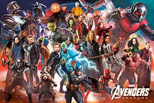 Erik® - Poster Marvel Avengers Endgame Line Up, 63x91,5 cm