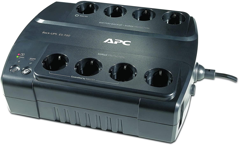 APC Back-UPS ES 700 - Gruppo di Continuità (UPS) 700VA con risparmio Energetico - BE700G-IT - 8 Uscite (Schuko/CEI 23/16)