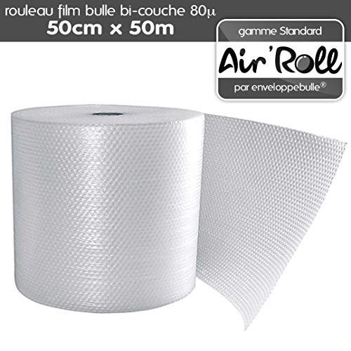 Air'Roll Standard - Rotolo di pellicola a bolle d'aria, 50 cm larghezza x 50 m lunghezza