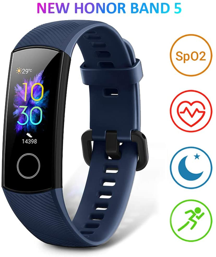HONOR Band 5 Smartwatch Orologio Fitness Tracker Uomo Donna Smart Watch Cardiofrequenzimetro da Polso Contapassi Smartband Sportivo Activity Tracker, Blu