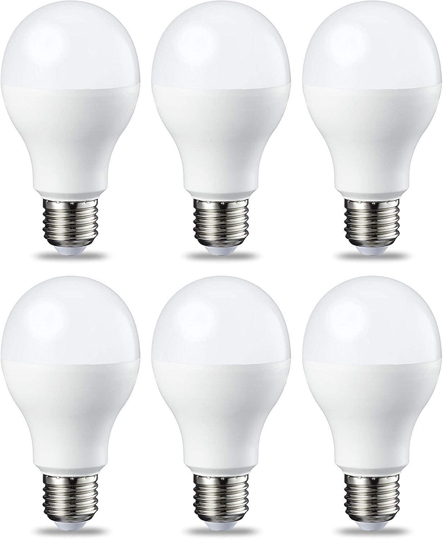 AmazonBasics Lampadina LED E27, 14W (equivalenti a 100W), Luce Bianca Fredda - Pacco da 6