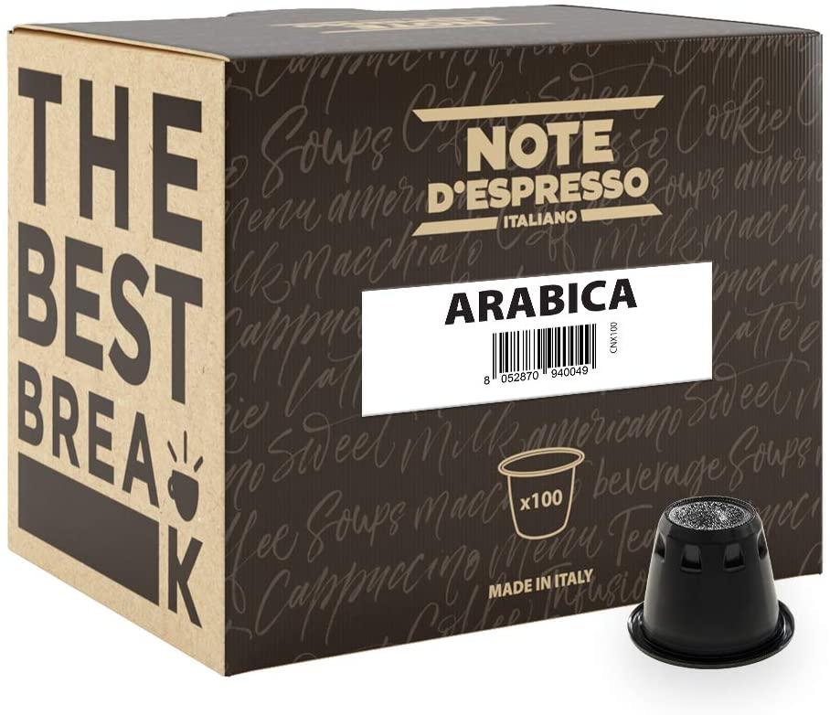 Note D'Espresso Arabica Caffè in Capsule esclusivamente Compatibili con Sistema Nespresso* - 560 g (100 x 5.6 g)