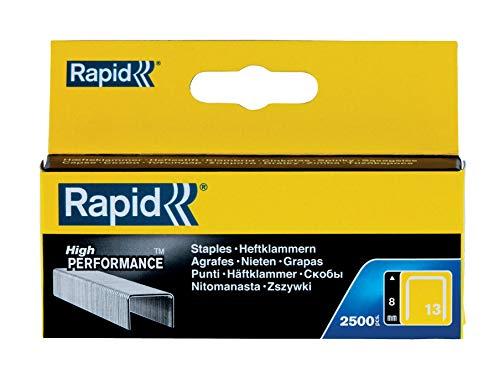Rapid 11835625 No. 13 Graffe a Filo fine 8 mm, Acciaio
