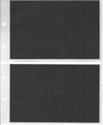 Fogli di ricambio per raccoglitore, formato per banconote/cartoline/foto, 2 scomparti