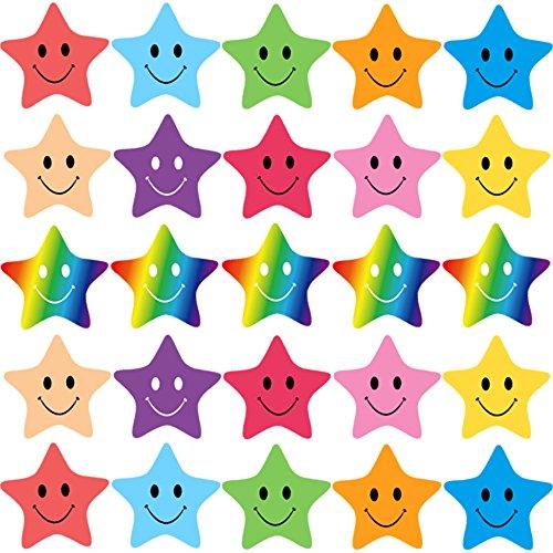FEPITO 10 fogli 350 PCS adesivi murali Smiley Mini adesivi per insegnanti, genitori bambini Craft Scrap Books Decorazione, multi colore