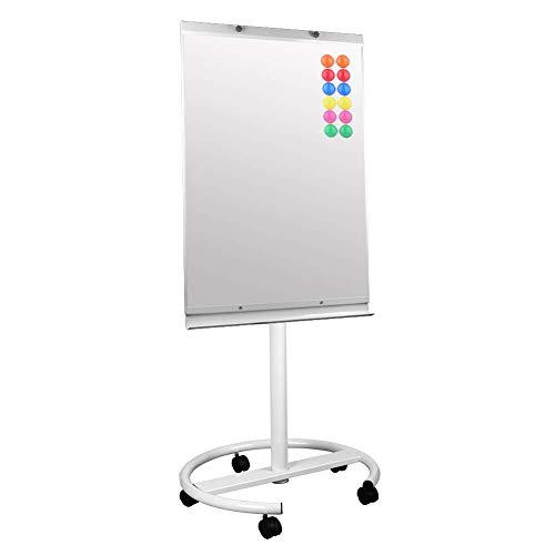 S SIENOC Lavagna mobile flipchart a ufficio whiteboard Magnetica Cavalletto Treppiedi Easy Lavagna a fogli mobili bianca regolabile in altezza Cornice in Alluminio