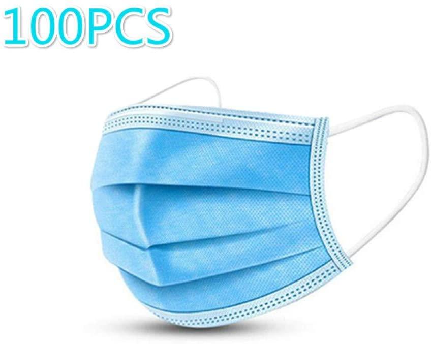 Jiuzun Copertura antipolvere60/100, sacchetto sigillato standard, protezione sanitaria, copertura antipolvere a tre strati con gancio per l'orecchio, 20 pezzi per sacchetto