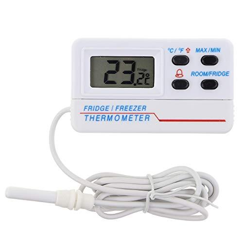Termometro digitale per congelatore o frigorifero, con allarme per temperatura minima e massima, cavo di 1,2 m