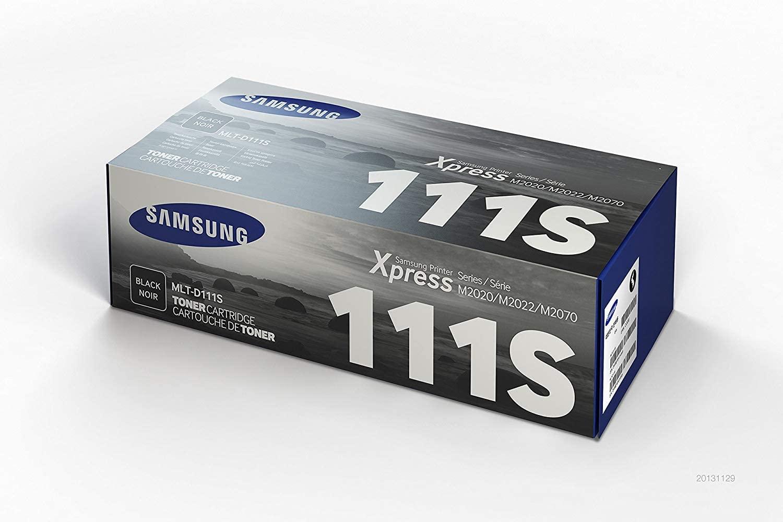 Samsung MLT-D111S SU810A Cartuccia Toner Originale Standard, 1000 Pagine, Compatibile con Stampanti Laserjet Monocromatiche Serie M2020, M2070 e SL-M2020, Nero