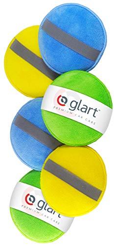 Glart 46PP Pad di Lucidatura con Microfibre con l'Elastico, Blu/verde/arancio, 6