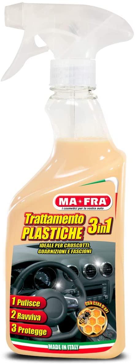 Mafra, Trattamento 3in1 Plastiche, Pulisce, Ravviva e Protegge le Parti Interne dell'Auto, Creando una Barriera Anti Raggi UV, Formato 500ml