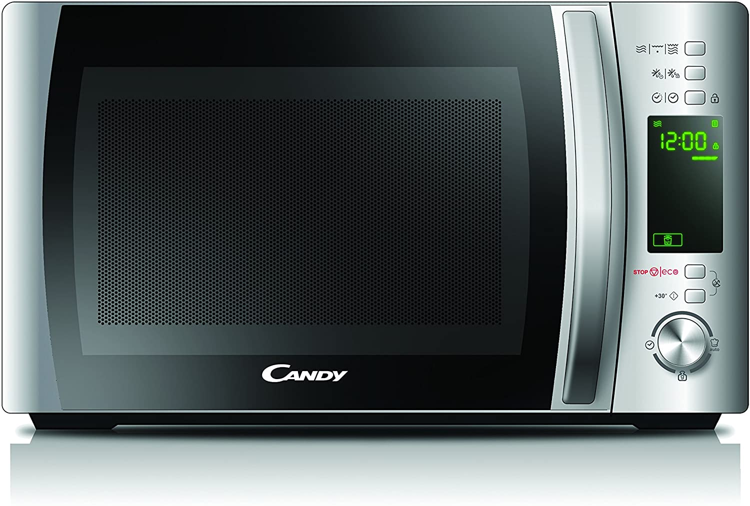 Candy Microonde CMXG20D - Grill e App Cook-in, 20L, 40 Programmi Automatici, 700 W, Argento