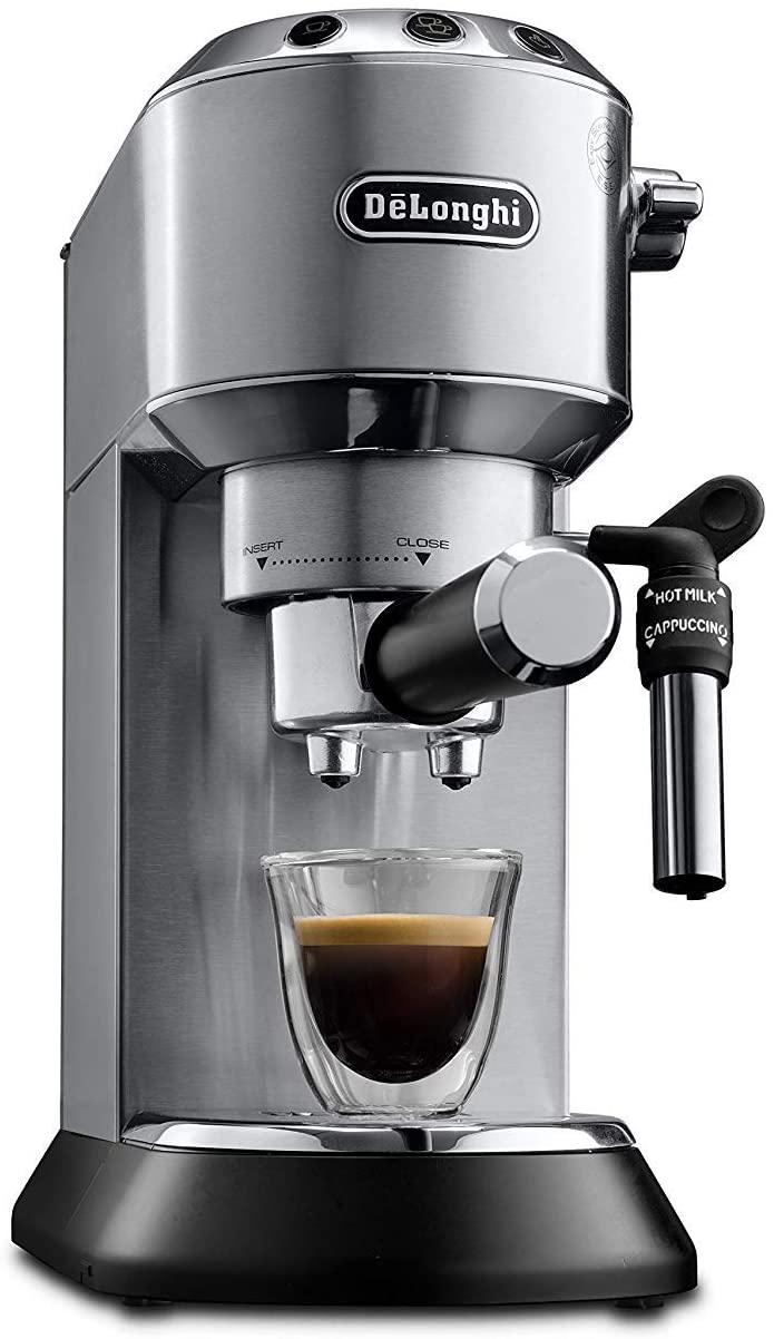 De'Longhi EC685.M Macchina per caffè Espresso Manuale, 15 Bar, 1350 W, 1 Litro, caffè in polvere o in cialde (sistema E.S.E), Acciaio Inossidabile
